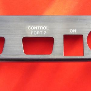 Port plate for Commodore 64