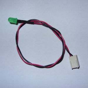 Custom Power LED cable for breadbin C64 *New GREEN LED* (includes new grommet)